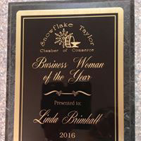 Snowflake/Taylor Chamber of Commerce 2016 Business Woman of the Year Award